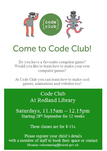 Come to Code Club poster