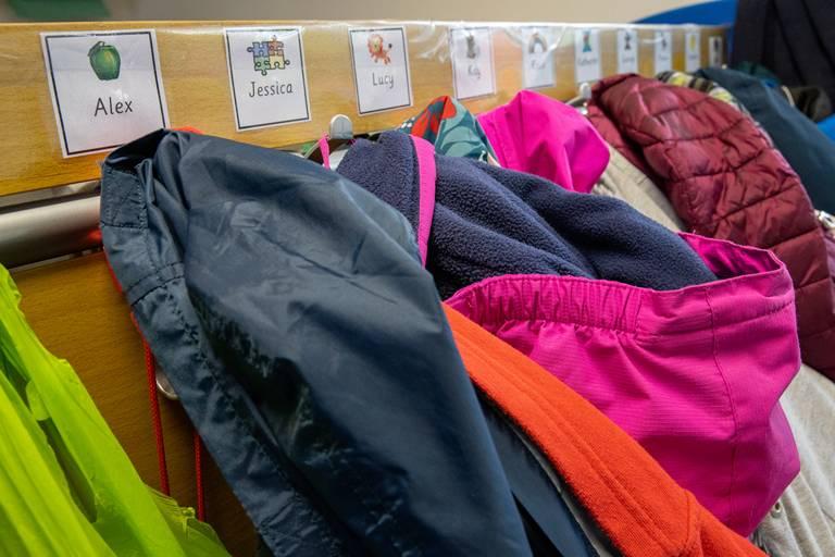 Coats On Pegs