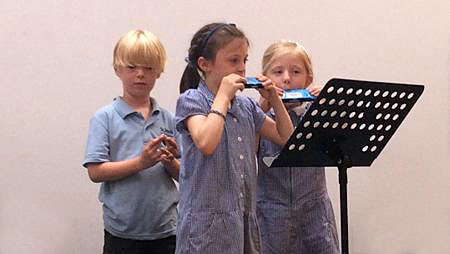 Playing Harmonica