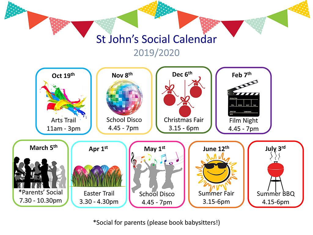 St. John's Social Calendar 2019-2020