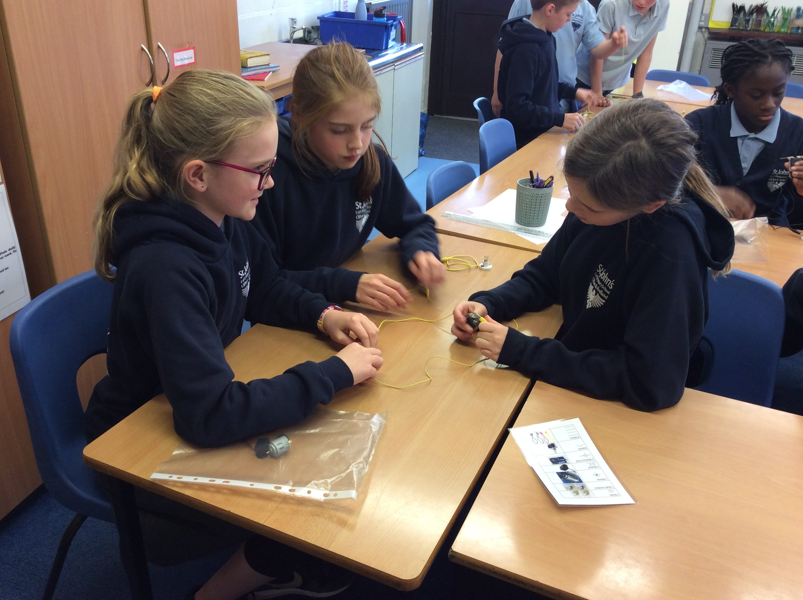 Cabot Class Enjoying Testing Out Circuits In Science.