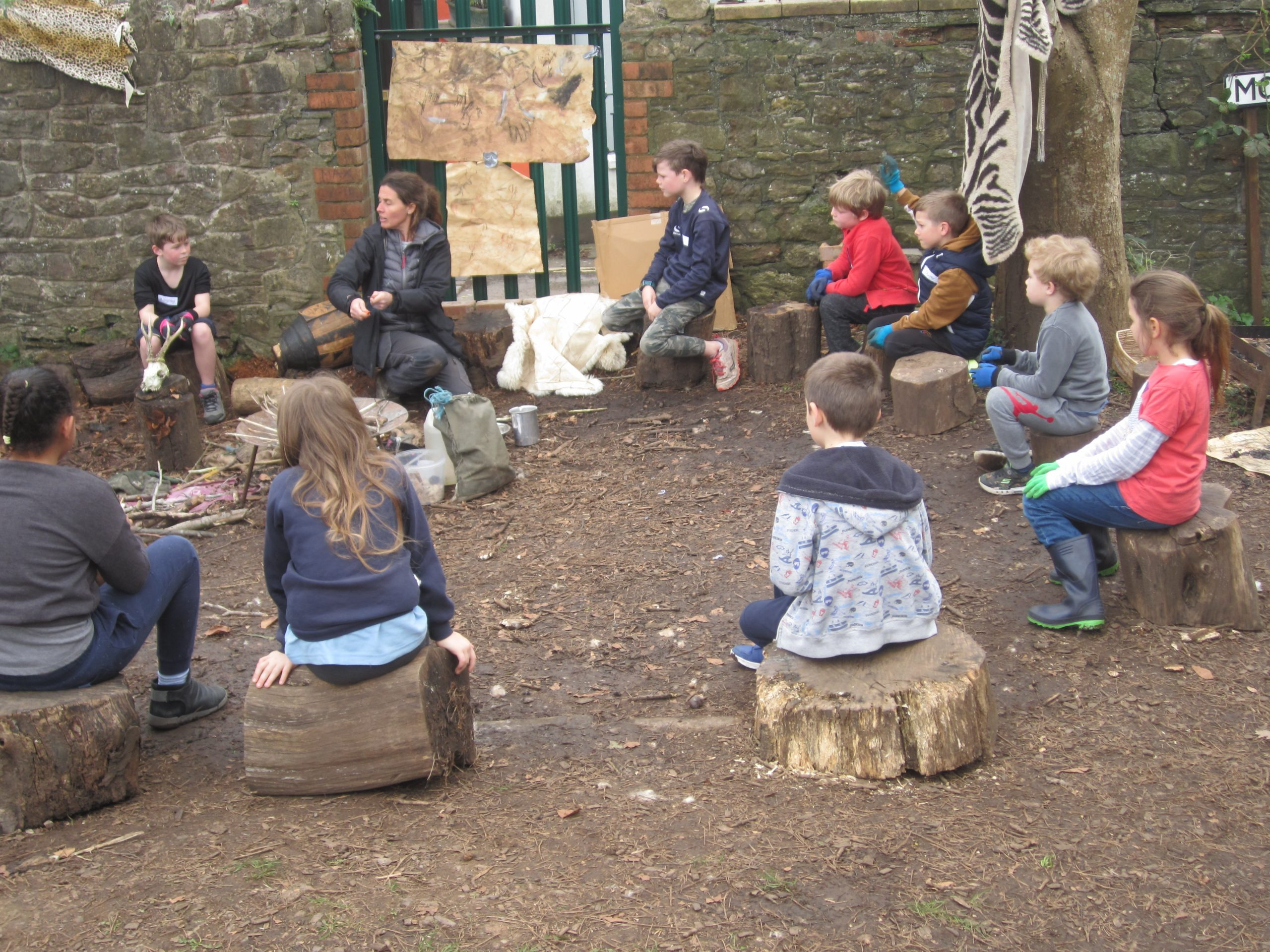 Stone Age Forest School Experience